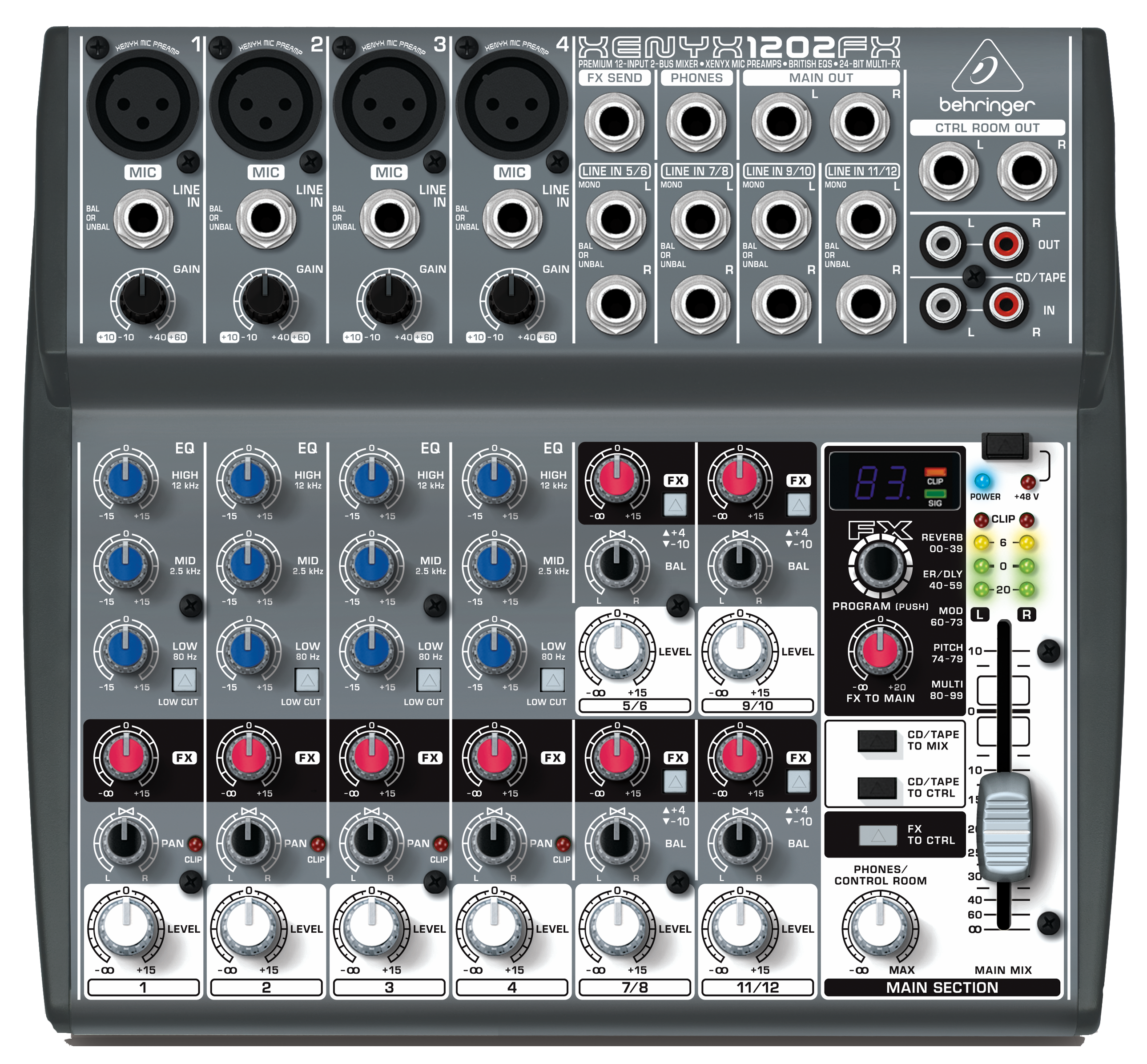 new behringer 1202fx mixer 12 input with mic preamps ebay. Black Bedroom Furniture Sets. Home Design Ideas