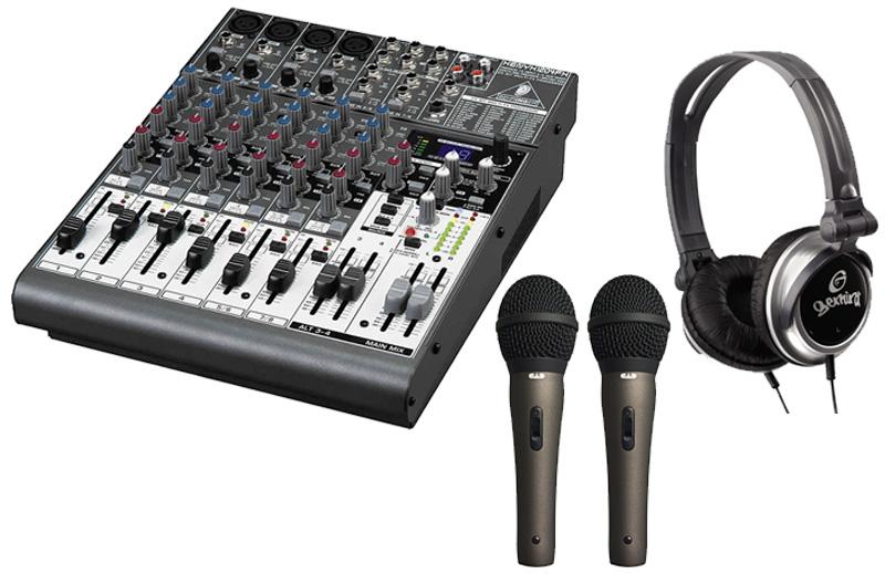 behringer 1204usb pro dj 12ch usb effects mixer headphones cad22a microphones ebay. Black Bedroom Furniture Sets. Home Design Ideas